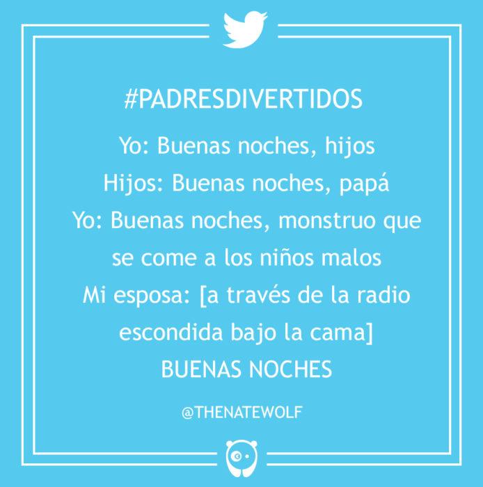 #PadresDivertidos buenas noches monstruo