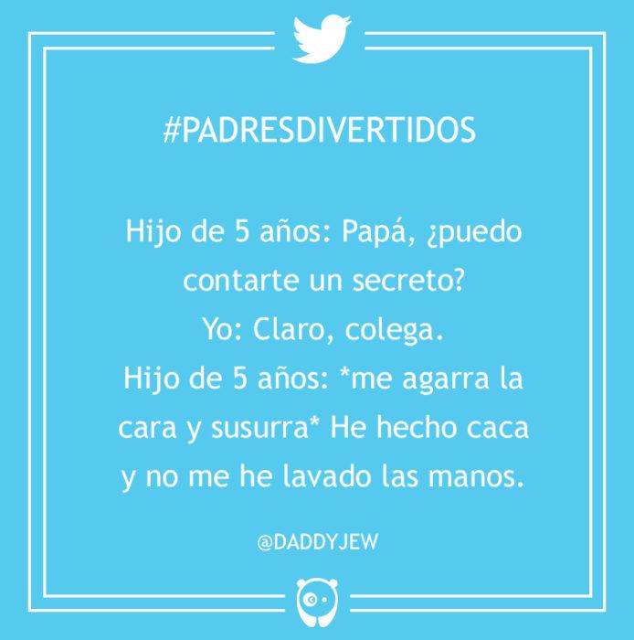 #PadresDivertidos hice caca y no me lavé las manos