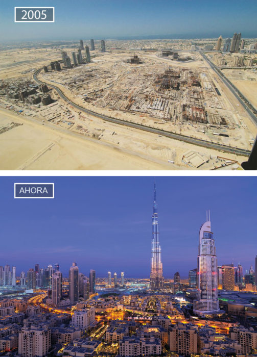 Foto de Dubai hace 11 años y ahora