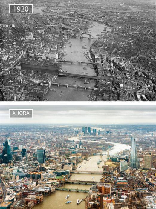 Foto de Londres en 1920 ya hroa
