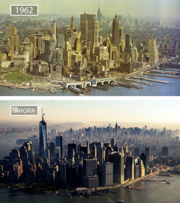 Foto de Nueva York en 1962 y ahora
