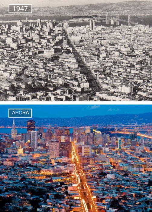 Foto de San Francisco en 1947 y ahora