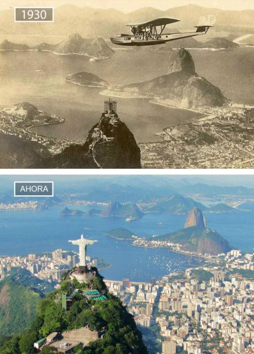 Foto de Río de Janeiro en 1930 y ahora