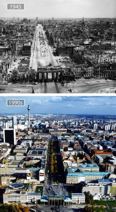 Foto de Berlín en 1945 y ahora