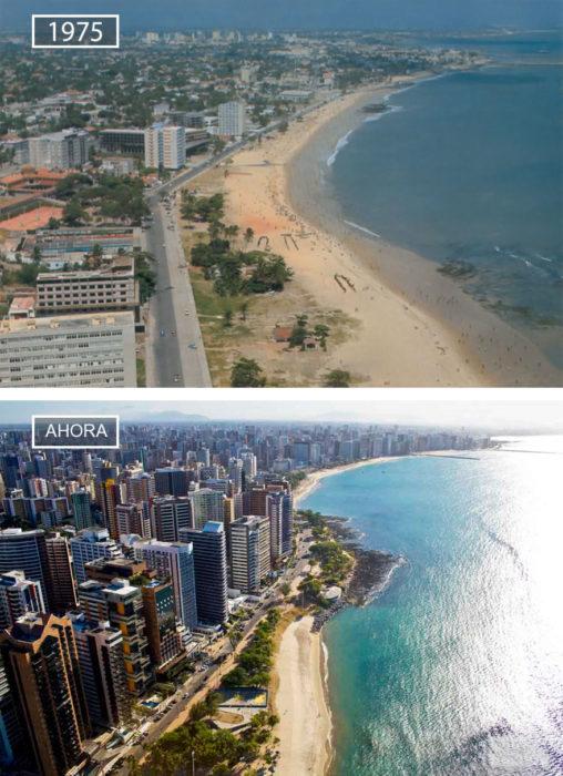 Foto de Fortaleza en 1975 y ahora