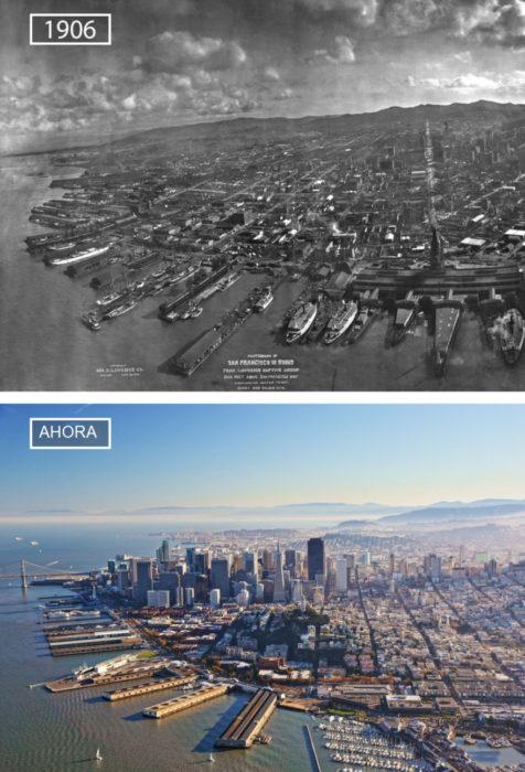Foto de San Francisco en 1906 y ahora