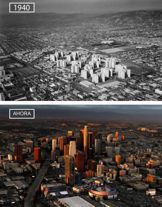 Foto de Los Angeles en 1940 y ahora
