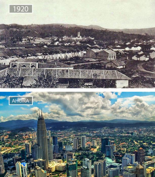 Foto de Kuala Lumpur hace 96 años