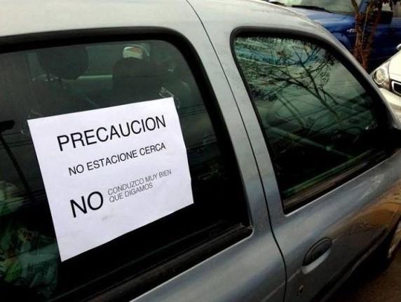 Precaución no estacione cerca
