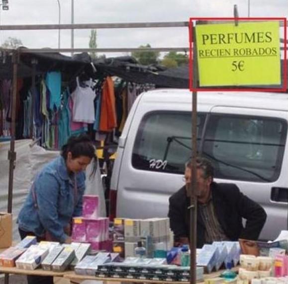 Perfumes recién robados