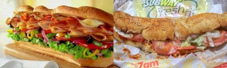 subway expectación vs realidad
