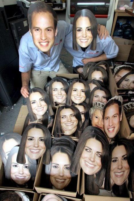 mascaras familia real inglaterra