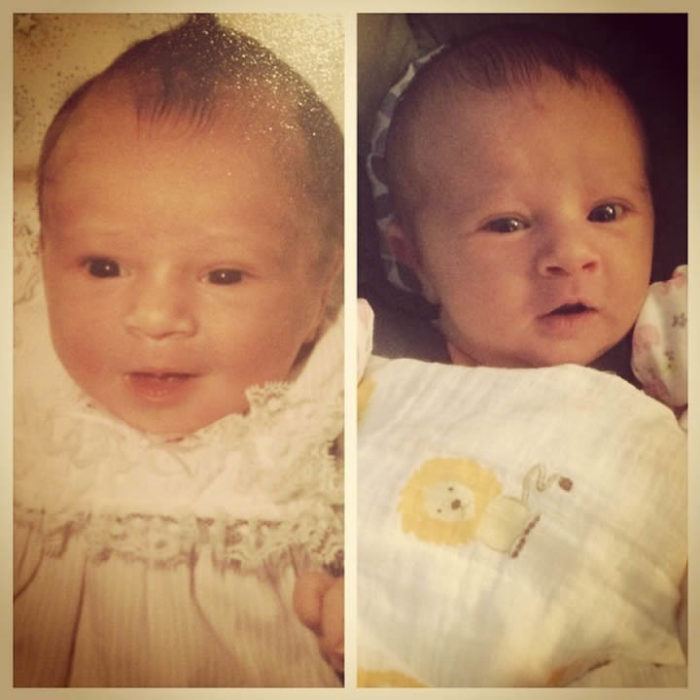 Bebe idéntico a padre