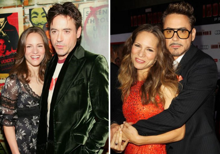 robert downey y su esposa