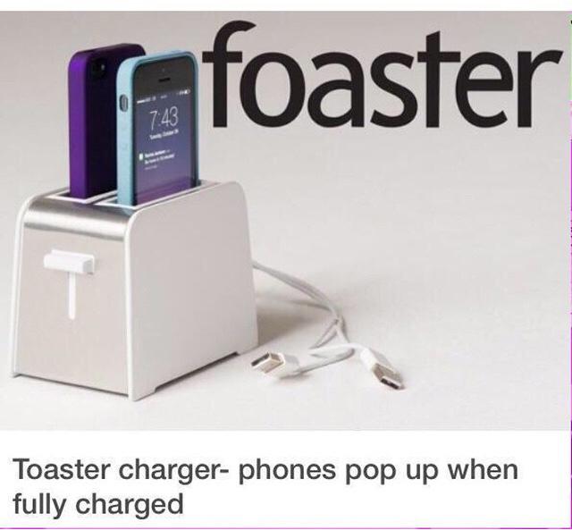 Tostadora que carga los telèfonos celulares