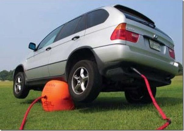 globo que se infla para levantar un carro