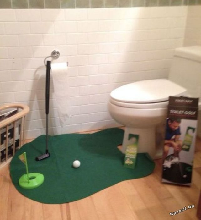 juego de mini golf para el baño