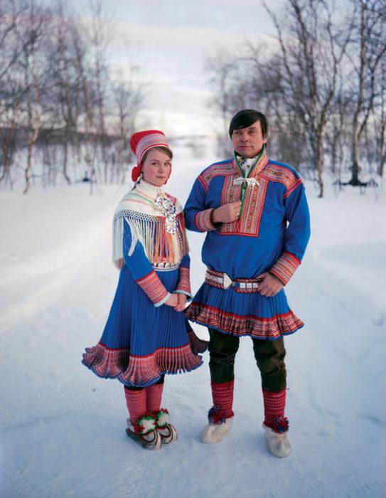 Pareja de novios de Laponia