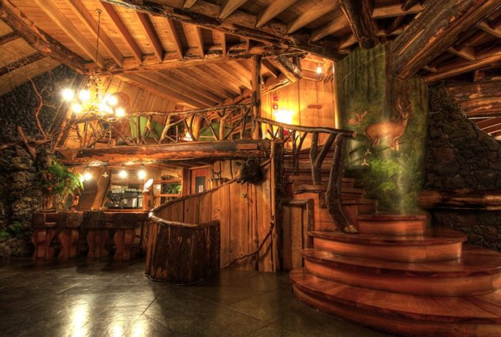 hotel montaña mágica interior