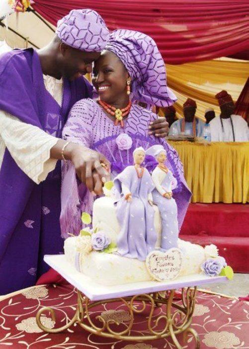 pareja de novios nigerianos