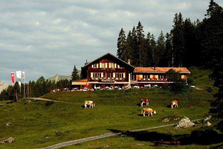 hotel rústico en suiza