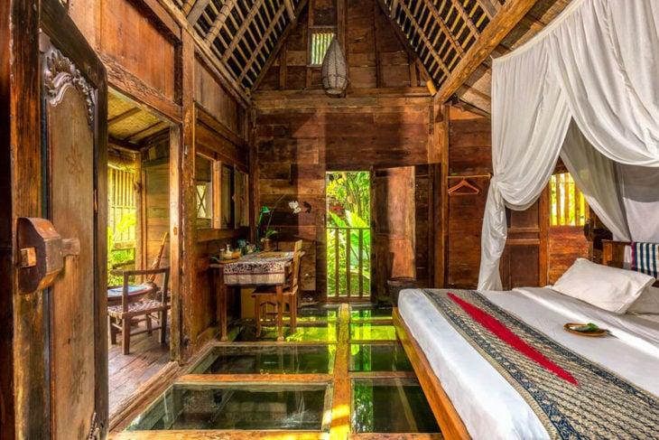 interior de hotel madera