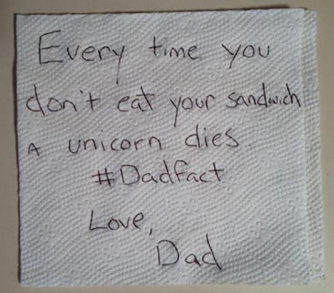 una nota escrita en servilleta