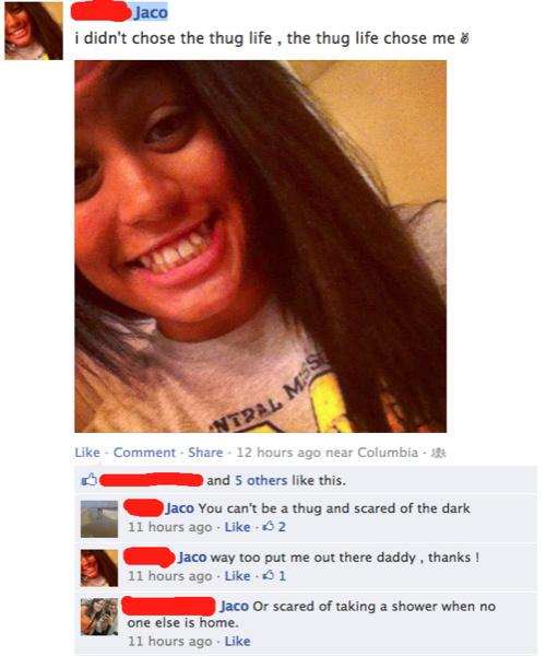 Chica presumiendo ser ruda en el face