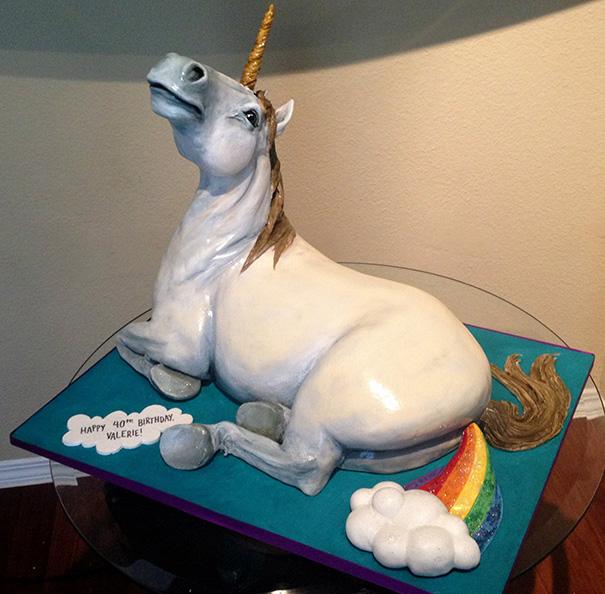 pastel de un unicornio