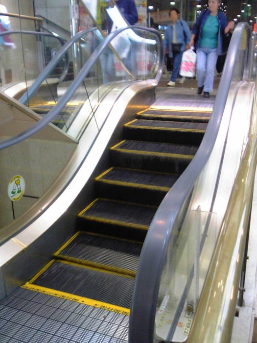 Escaleras eléctricas con 4 escalones