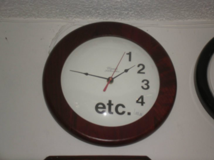 Reloj de pared 1 2 3 4 etc