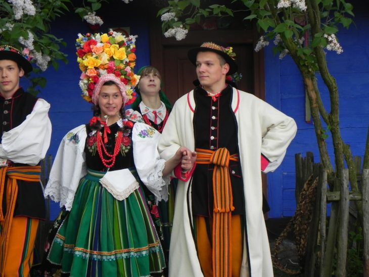 pareja polaca tradicional