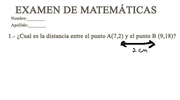 Respuestas ingeniosas. distancia entre el punto A y B