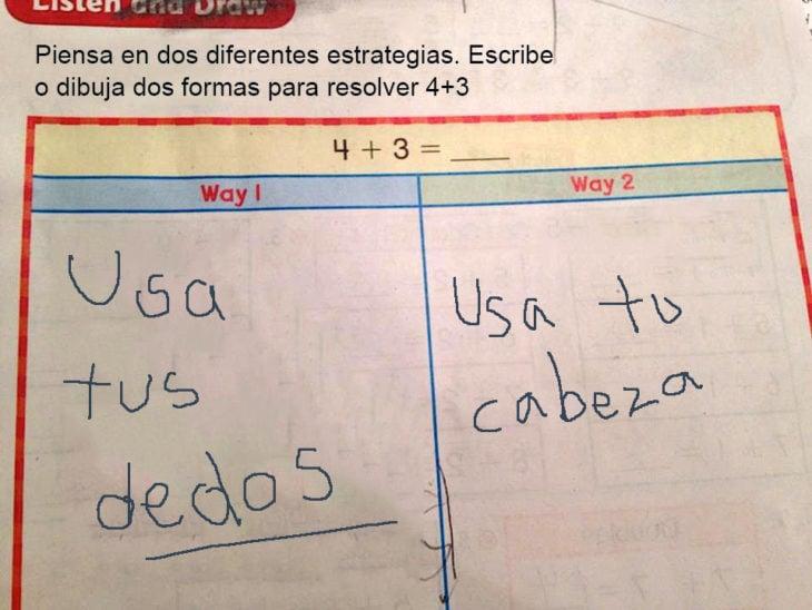 Respuestas ingeniosas. Escribe o dibuja dos estrategias