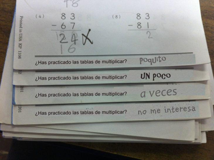 Respuestas ingeniosas. Has practicado las tablas de multiplicar