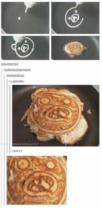 pan cake mal hecho
