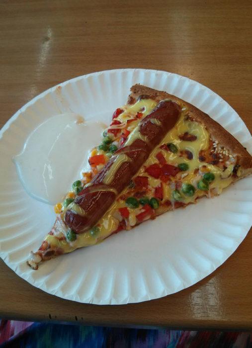 pizza con salchicha