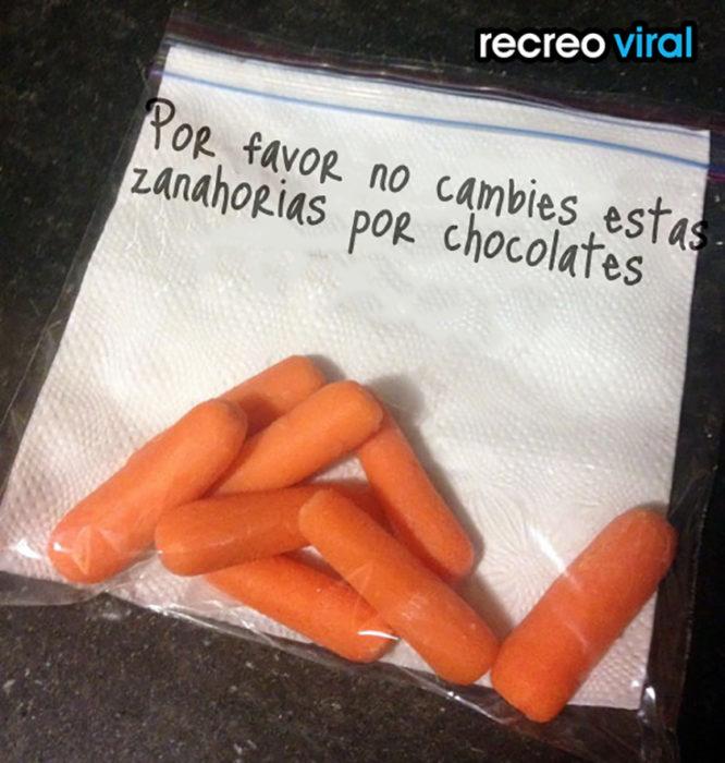 zanahorias y servilletas