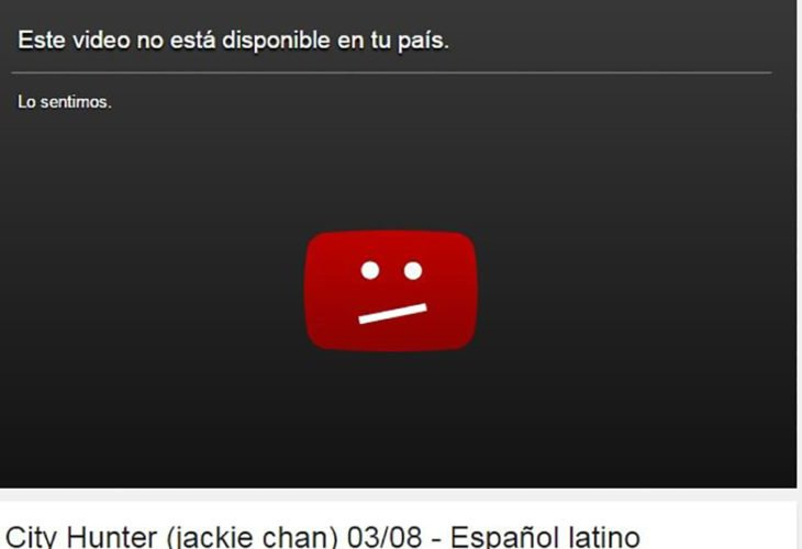 su video no está disponible en este país