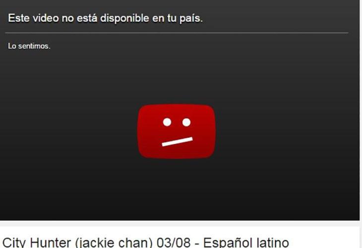 su video no está disponible en este país