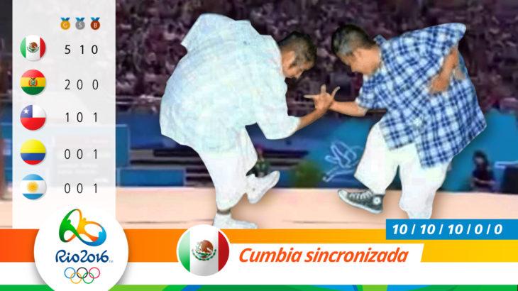 Medalla olímpica por cumbia sincronizada