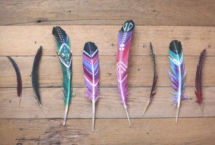 plumas pintadas