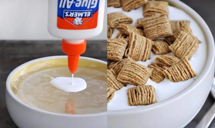 resistol en un tazón y cereal