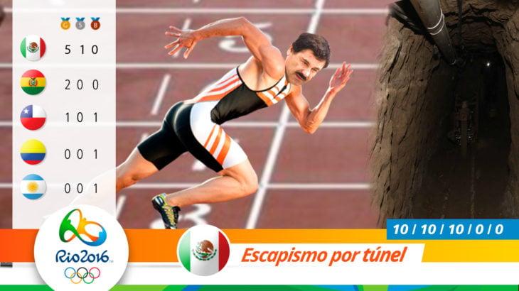 Medalla olímpica por escapismo de túnel