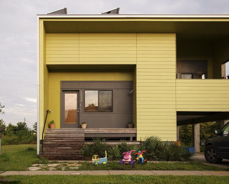 casa verde amarillento