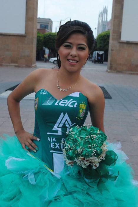 vestido de quinceañera naco