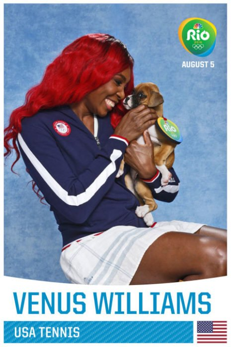 venus williams y cachorro