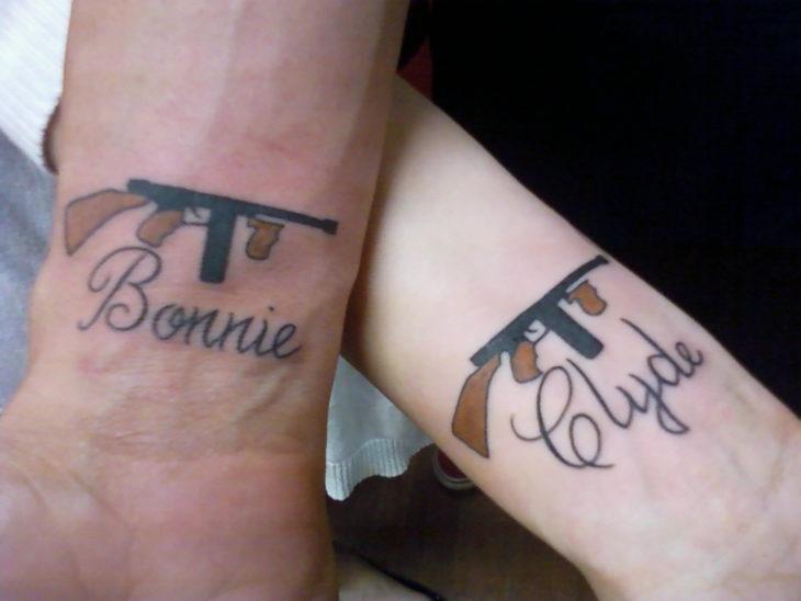 tatuaje de bonnie y clyde