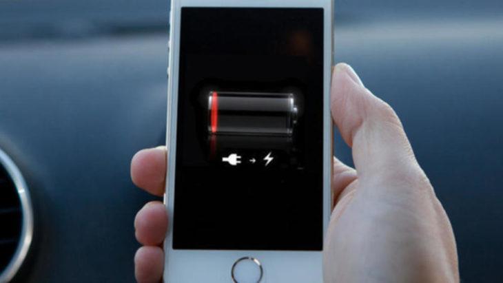 celular con baja batería