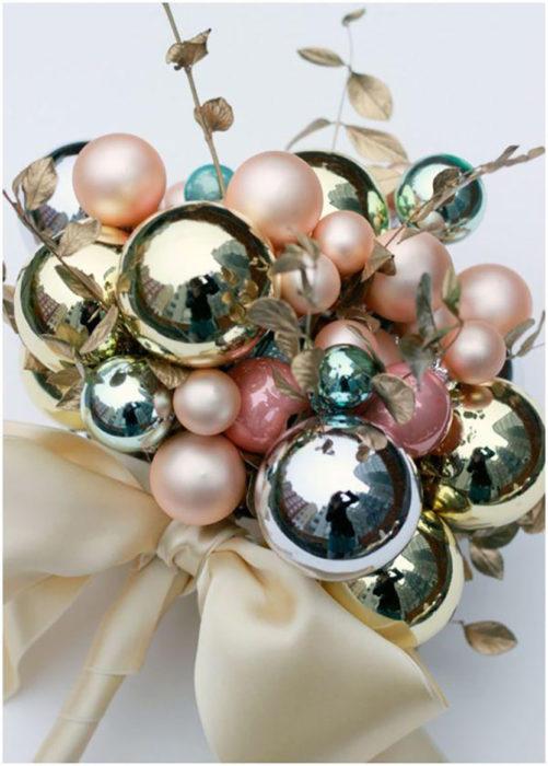 ramo de novia de esferas